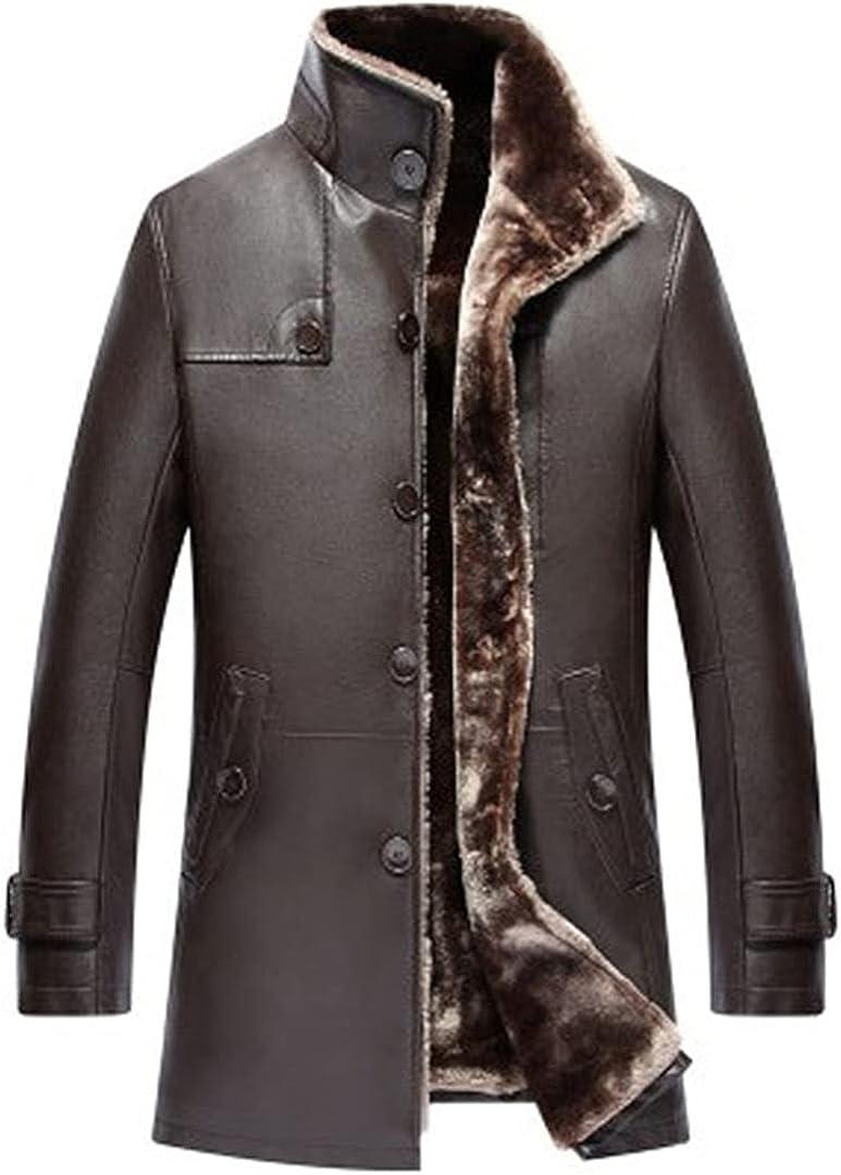 Mens Clothing Genuine Sheep Leather Natural Coat Real Fur Long Plush Thick Oversize Sheepskin Jackets