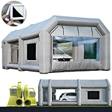 26x15x10Ft Sewinfla Paint Booth with Blowers Blow Up Spray Booth with Air Filter System, Professional Inflatable Paint Booth Tent for Car Workstation