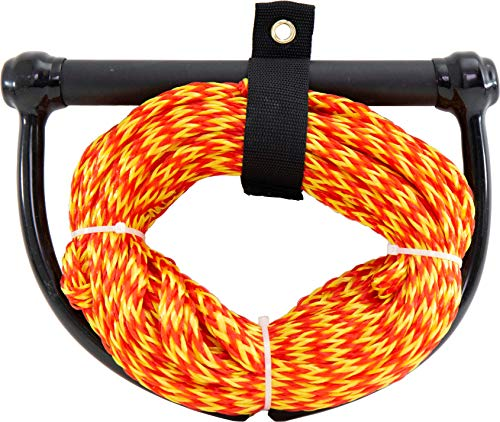 5. Adealistic Ultimate Knotted Wakeboarding/WakeSurf Rope with Handle