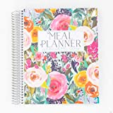Carrie Elle - Meal Planner - Secret Garden - 8.5' x 11' with Perforated Grocery Lists - Made in the USA