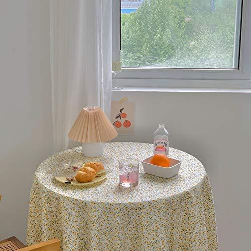 No-Branded Mantel Ins Vintage Daisy Mantel Mantel de algodón Fondos de fotografía cenar Cubierta de Mesa Elegante Corea del Mantel de Picnic JFCUICAN (Color : Azul, Specification : 150x150cm)