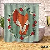 n Duschvorhang Wasser Cartoon Kaktus Tier Obst Duschvorhang Bad Badewanne große breite Abdeckung