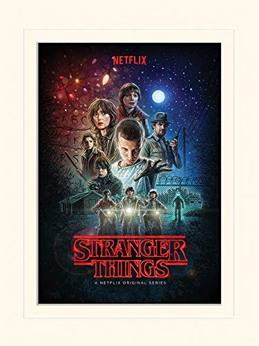 Stranger Things LMP12366P (One Sheet), Stampa Montata, Multicolore, 30 x 40 cm