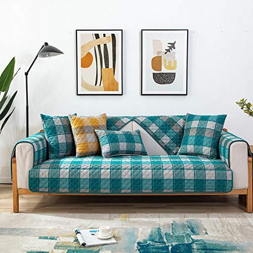 Homeen Protector de Muebles,Fundas de cojín de sofá cómodas de algodón,Funda de sofá de Tela Jacquard de 1/2/3/4 plazas,Funda de sofá de celosía de 4 Estaciones 70 * 150cm