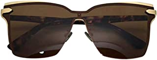 LUKEEXIN Classic Square Driving Polarized Sunshade, Fashion Sunglasses for Women Men (Color : Brown)
