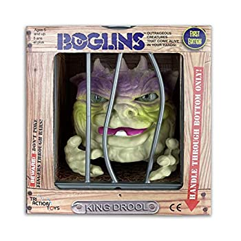 """BOGLINS King Drool 8"""" Collectible Figure with Super Stretchy Skin & Movable Eyes and Mouth Popular Retro Toy from The 80 s for Kids and Collectors"""