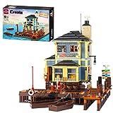 SESAY Juego de construcción de bloques de construcción para casa, modelo de arquitectura modular de buceo, 1460 piezas, compatible con tienda de pesca Lego 21310