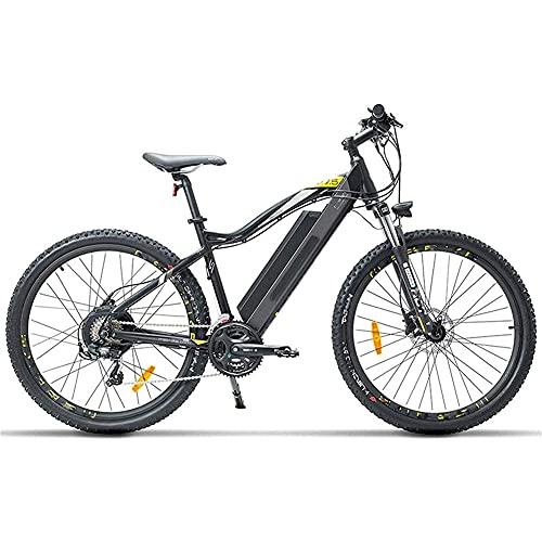 WXDP Autopropulsado Bicicleta eléctrica para Adultos, 27.5 Pulgadas Mountain Urban Commuter E Bike 400W Motor sin escobillas 48V 13Ah Batería de Litio extraíble Suspensión Horquilla Freno de Disc