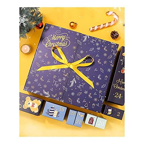 JJH Calendario de la Cuenta Regresiva de Navidad, Conjunto de Caja 24 días, calendarios de adviento 2021 for niños niñas niños Adultos Adolescentes Chocolate