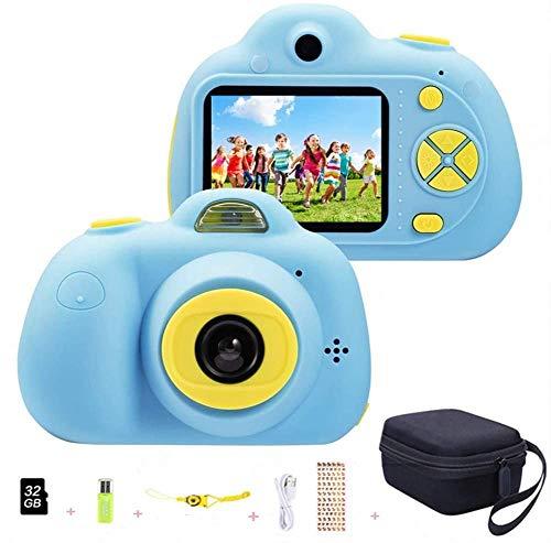 "Cámara para niños ToyZoom Cámara de Fotos Digital 2 Objetivos Selfie 8MP Cámara Digital 1080P HD Videocámaras para Niños Niñas con Zoom Digital 4X, Flash Lights, 2"" LCD, Batería Recargable (Azul)"