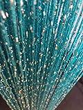 Vagasi lote de 2 cortinas hilo lentejuelas para decoración cortinas espaguetis elegantes estudios ventanas puertas cumpleaños bodas fiestas hoteles azul 100 x 200cm x 2pc
