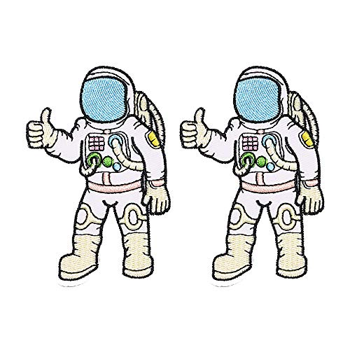 Super Set Patch of Iron on Space Patches, Astronaut Patch, Trust No One Patch Embroidered Iron On/Sew On Patches (Astronaut01)