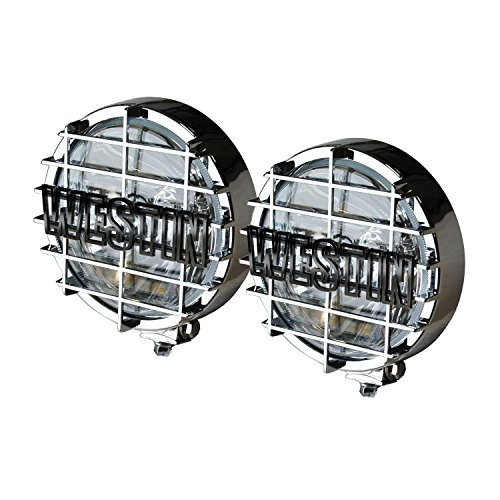 "Westin 09-0500 6"" Chrome Off-Road Driving Light with Grid (Pair)"
