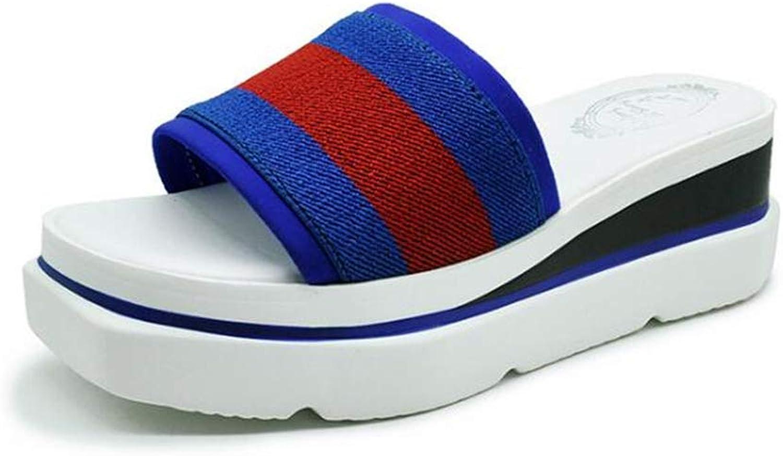 Women Ladies Summer Wedge Slippers,Platform Waterproof High Heel Outdoor Sandals