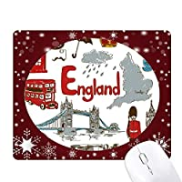 イングランドの風景の動物の国旗 オフィス用雪ゴムマウスパッド