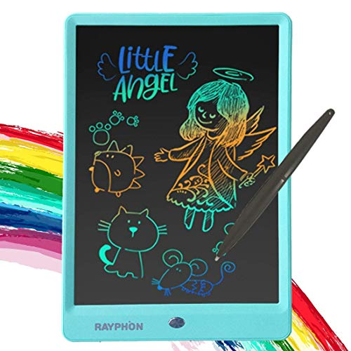 ZBHANTANG LCD Writing Tablet 10 Inch Drawing Board Doodle Board with Colorful Screen, Erasable Reusable Electronic Drawing Pads Learning Gifes for 2 3 4 5 6 Year Old Boys and Girls (10 inch, Blue)