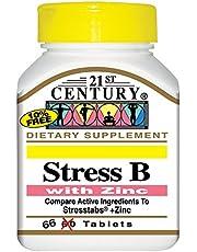 21st Century Stress B With Zinc, 66 Tablets