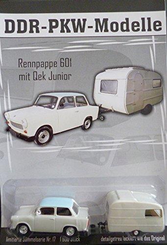 vielesguenstig-2013 DDR PKW Modell Sammlermodell Trabant Trabi 601 mit Qek junior Wohnwagen Nr. 17