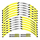 bazutiwns Etiqueta de la Rueda de la Motocicleta Pegatina Remonte Rim Reflectante Compatible con BMW K1600GTL HSLL (Color : 3)