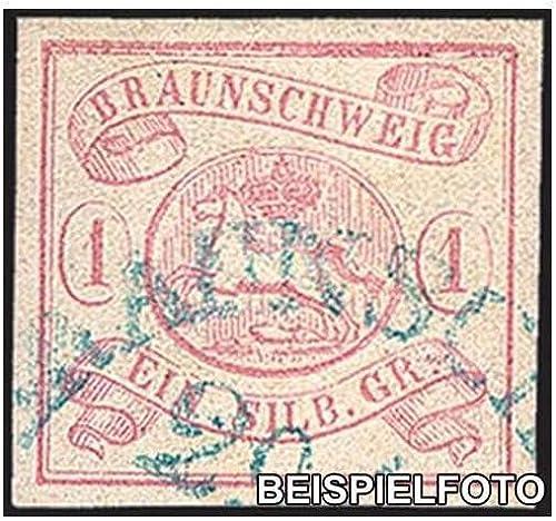 Goldhahn BraunschWeiß Nr. 1 gestempelt Briefmarken für Sammler