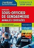 Concours Sous-officier de gendarmerie - Annales corrigées - 2019/2020