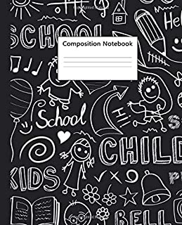 Composition Notebook: Funny Play Time Wide Ruled Paper Notebook & Journal for Kids - Awesome Back to School Blank Wide Lin...