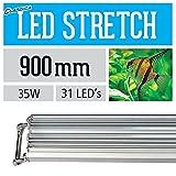 Aqua-Brite LED de Estiramiento de 90 cm de Agua Dulce