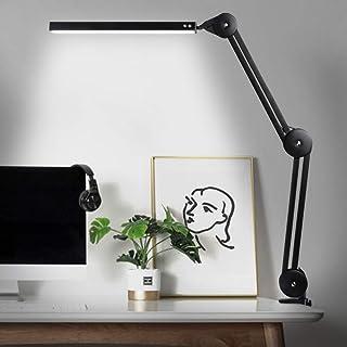 luce USB regolabile lampada da scrivania con braccio orientabile 3 modalit/à Roeam Illuminazione a LED con lente dingrandimento a 5 volte e morsetto lampada LED dimmerabile
