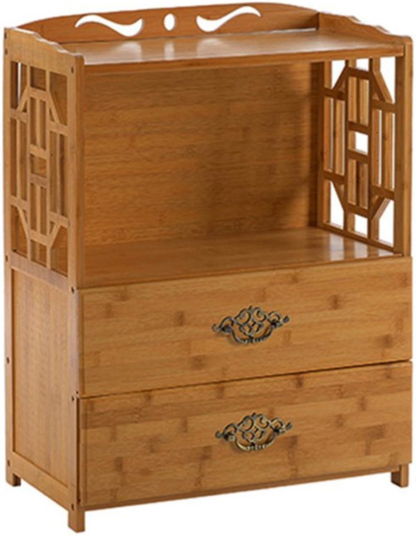 Xiao Jian Bookcase - Drawer Bookcase Simple Modern Combination Bookshelf Living Room Rack Solid Wood Floor Storage Rack Bookshelf (Size   42x29x70cm)
