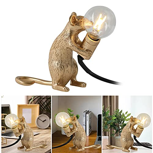 Lámpara de ratón, lámpara de mesa, luz de lectura, lámpara de noche, para dormitorio, decoración para el hogar, San Valentín, Navidad, Pascua, Halloween, aniversario