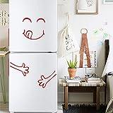OHQ Charmant Visage Souriant Sticker Mural Autocollant De RéFrigéRateur Mignon...