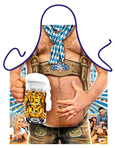 Goodman Design  witzige Schürze - Bierbauch - Bedruckte Schürze mit Urkunde als Geschenk Bier Liebhaber Männer Oktoberfest