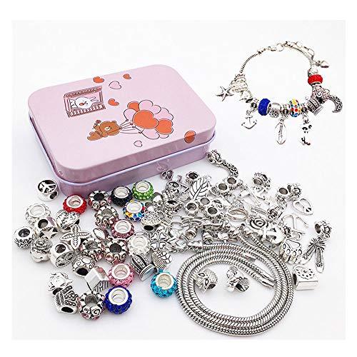 longyisound Juego de pulseras para hacer manualidades, joyas para niñas, regalos de 8 a 12 años, pulseras para hacer manualidades, juego de regalo personalizado (3 cadenas de plata)