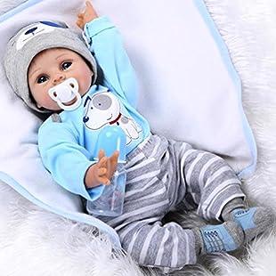ZIYIUI Newborn Baby Dolls 55 cm 22 Inches Soft Silicone Vinyl Reborn Baby Doll Handmade Look like a really baby New born baby doll Girl's Gift