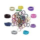 Haargummis Baby, Mädchen Multicolor Elastisch haarbänder, Haargummis Pferdeschwanz Inhaber Haarzubehör für Kleine Mädchen Kinder, 100 Stück