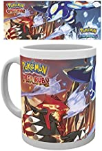 1art1 Set: Pokemon, Omega Ruby and Alpha Saphire Photo Coffee Mug (4x3 inches) and 1x Surprise Sticker