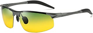KTYXDE Men's Metal Frame Polarized Sunglasses Sunglasses (Color : Gray)