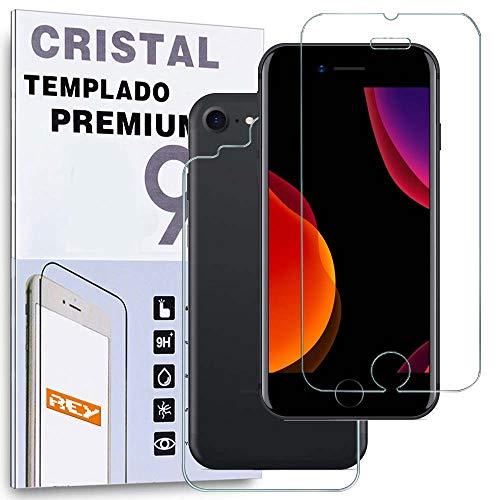 REY Protector de Pantalla Delantero + Trasero para iPhone 7 / iPhone...