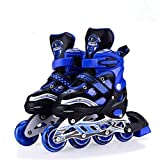Authfort Inline Skates Adjustable Expands As Your Child Grows-Light Up Front Wheel and Low Friction...