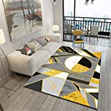 WJTHH Alfombra moderna tradicional lavable alfombra moderna alfombra de dormitorio moderno diseño geométrico textura mármol alfombra cómoda alfombra guardería 80 x 160 cm