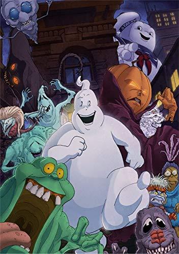 JKDFH Zeichentrickfilm Ghostbusters 5D DIY Diamantstickerei, Kinder/Erwachsene Diamant Kreuzstich-Kit, Wanddekoration Kunstwerk Geschenk.(23.6x35.4inch)