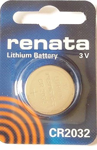 1 x Renata Batterie 2032 CR2032 Lithium Batterie, Für Uhren/Taschenrechner, Lange Lebensdauer