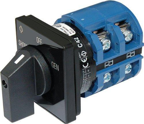 Blue Sea Systems AC Interruptor rotativo–Off + 2Posiciones 120V AC 65A