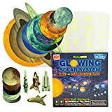 Glow in the Dark Stars and Planets for Ceiling – 303 Solar System Wall Stickers Room Decor, Outer Space Decals, Glowing 14 Planets 1 Moon 4 Rockets 24 Shooting Star 260 Stars Kids Boys Room Decoration