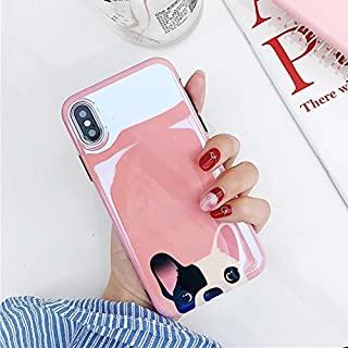 CaserBay iPhone Case Trendy Aurora Gradient Blue Light Glossy Look Reflective Flexible TPU Soft Phone Case Chihuahua for 5.5 inch iPhone 8 Plus & iPhone 7 Plus