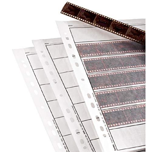 HAMA Fogli per archivio negativi 24x36 - 100 pz., orizzontale, Trasparente