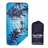 Sea Free Asciugamano in Microfibra da Spiaggia, Doppia Faccia Stampato Teli Viaggio, Uomo ...