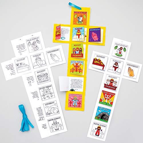 Baker Ross Karwoche Kalender Bastelset für Kinder zum Ausmalen (5 Stück) Kreativsets zum Basteln und Dekorieren zu Ostern AT562