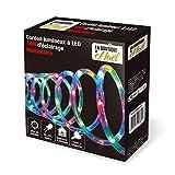 Guirlande Tube lumineux 18 mètres Ampoules LED Multicolores et 8 jeux de lumière