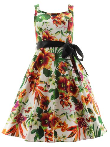 H & R London DRESS Summer Floral Long Dress 2017 bianco Small